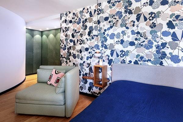 Chambre parentale du projet P&Br, décoration réalisée par Amandine Mazella