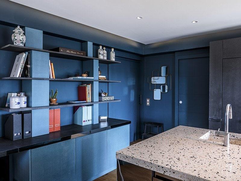 étagère bleu designer par Amandine Mazella