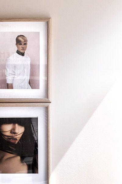 Cadres photos, décoration salon de coiffure